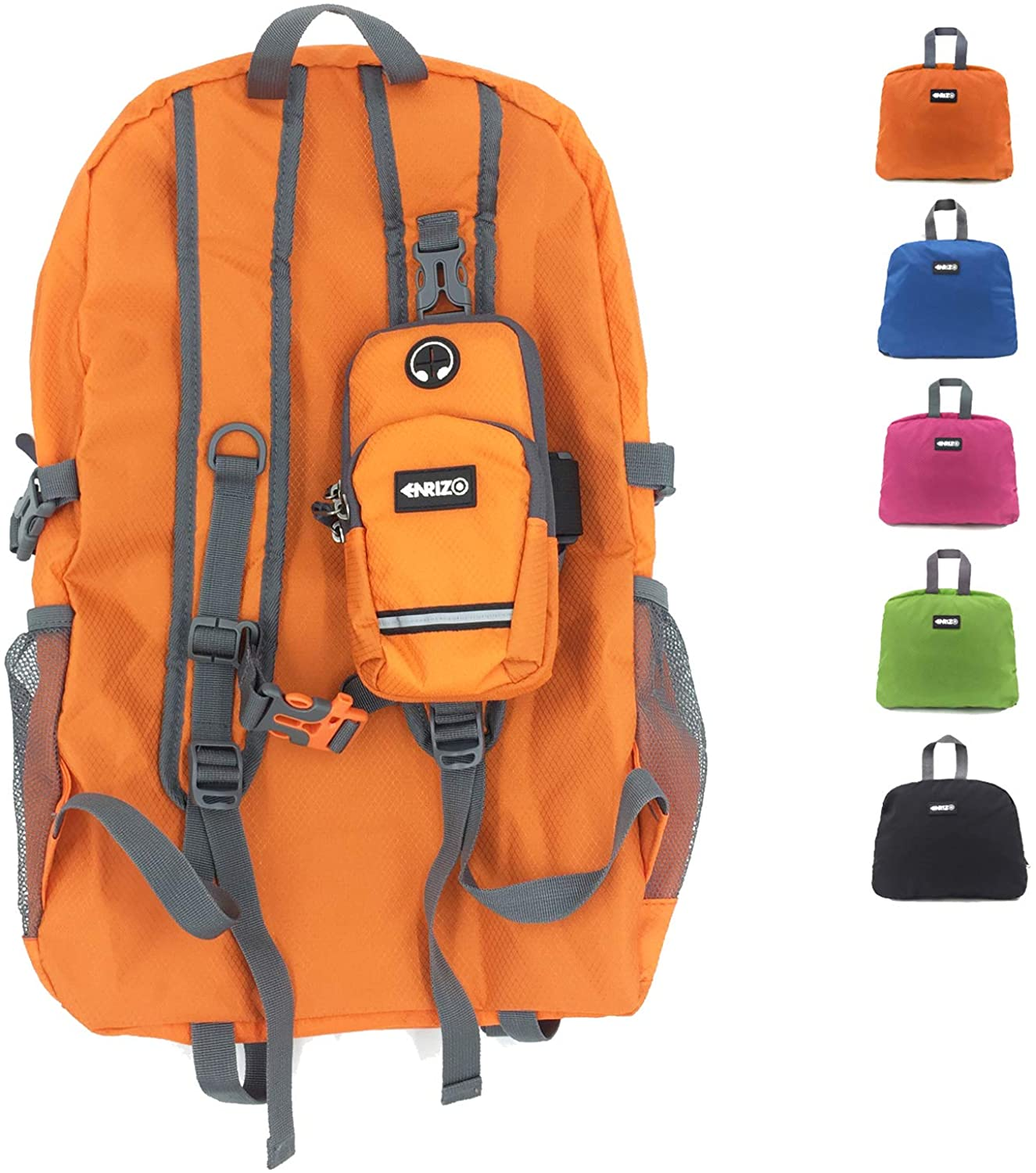 Enrizo 35L Large Capacity Packable Hiking Travel Foldablem Outdoor Daypack Lightweight Backpack with Durable Water Resistant
