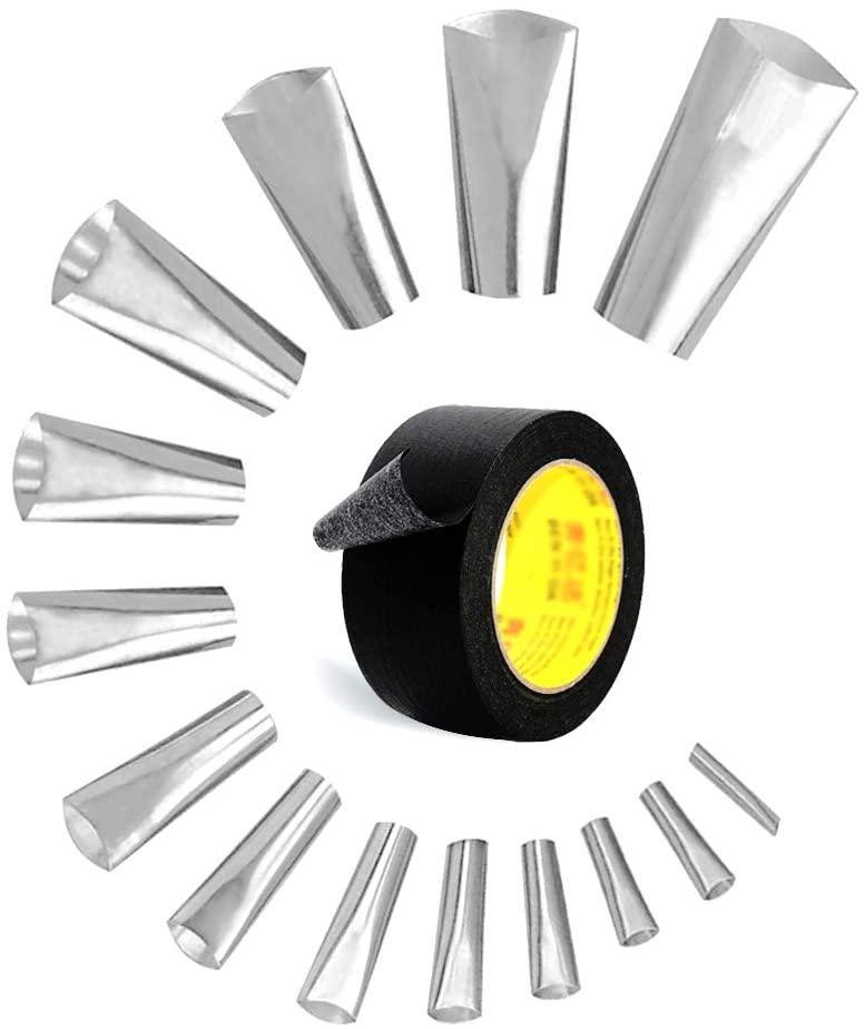 Caulk Nozzle, 14Pcs Perfect Caulking Finisher Kit,Reusable Caulking Finishing Tool, Tools for Caulking,Stainless Steel Sealant Caulking Tool Kit for Bathroom Kitchen Window