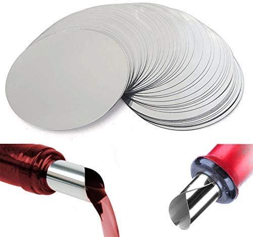 100pcs Silver Wine Pourer Drop Stopping Pour Disk Spout