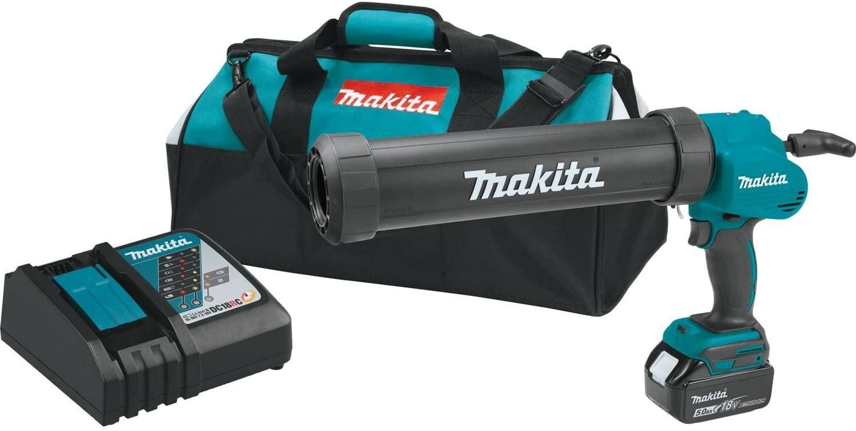 Makita XGC01T1C 18V LXT Lithium-Ion Cordless 29 Oz. Caulk & Adhesive Gun Kit (5.0Ah),