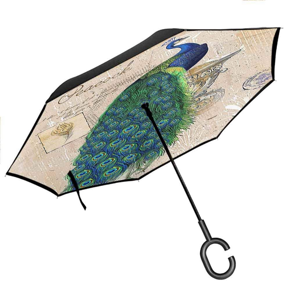 flyrio Aegean Travel Umbrella Dreamlike Double Layer Canopy for UV Protection & Rain, 42.5