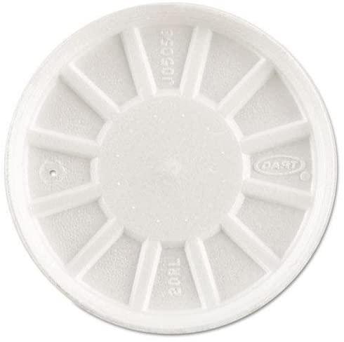 DCC 20RL Vented Foam Lids, Fits 6-32oz Cups, White, 500/Carton