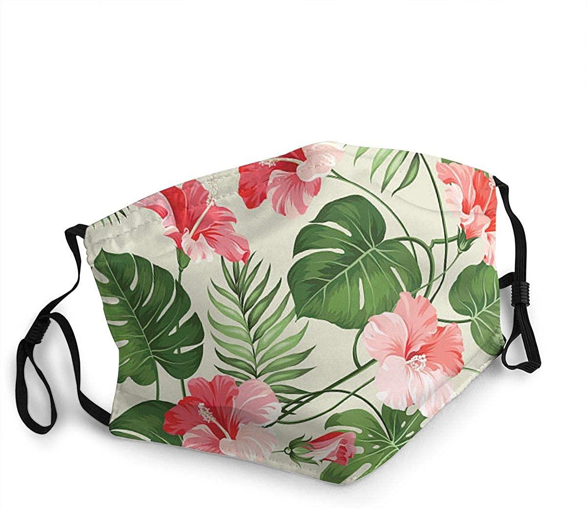 MARTHLORES Fashion Protective, Reusable Cotton Fabric Tropical Unisex Cotton, Washable,Adjustable, Reusable.
