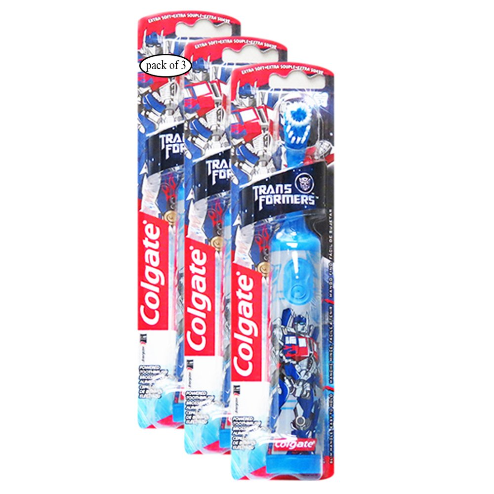 Colgate Extra Soft Powered Toothbrush - Transformers For Kids (Pack of 3) 0687531