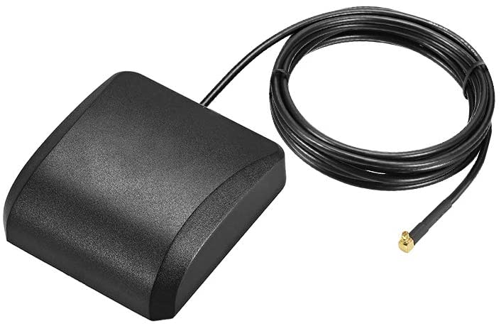 uxcell GPS Active Antenna Compatible with Beidou GNSS MMCX Male Plug 90-Degree 42dB Aerial Connector Cable with Magnetic Mount 2 Meters Wire L