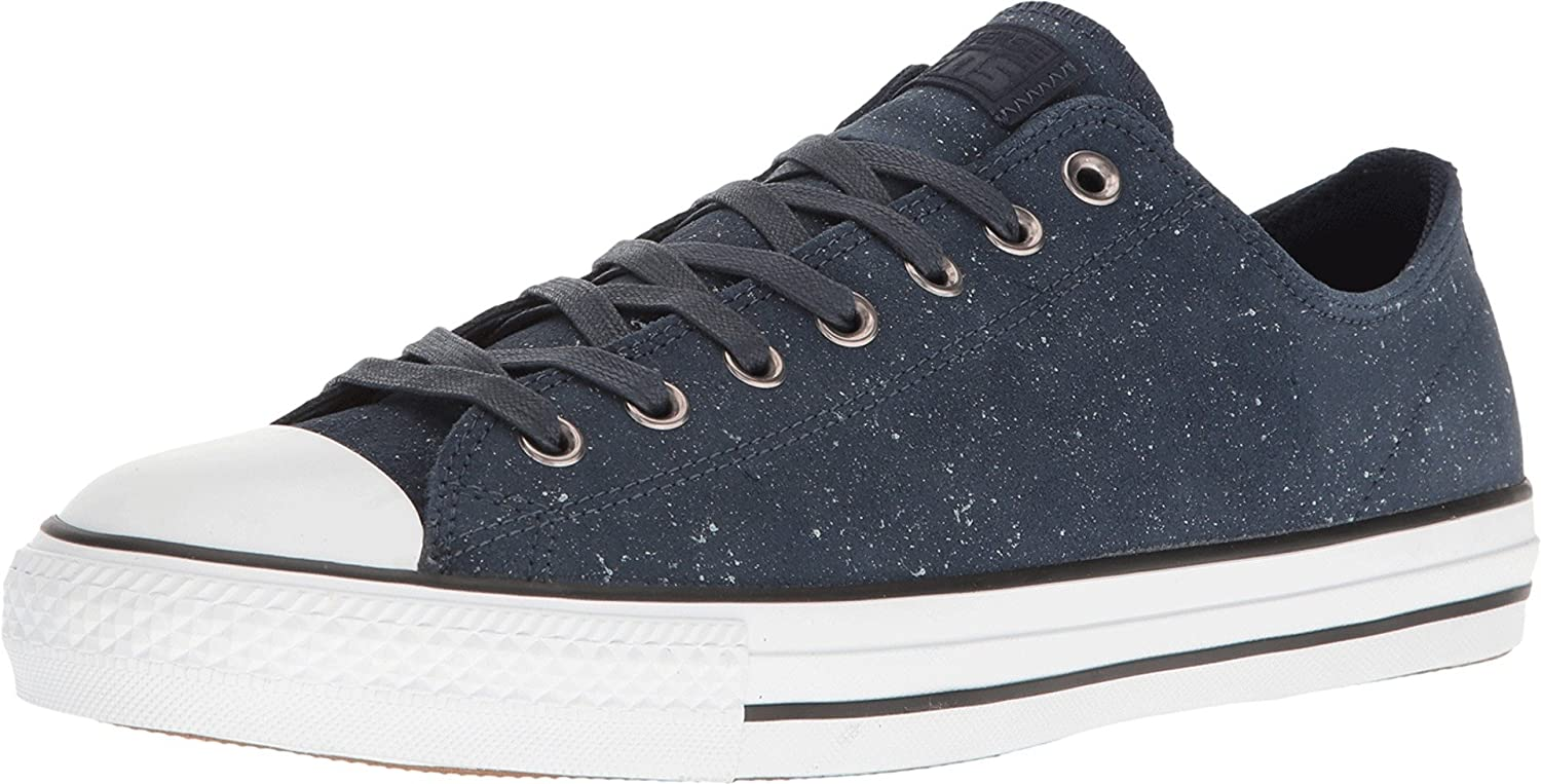 Converse Unisex Chuck Taylor All Star Pro Peppered Suede Ox Sneaker (Obsidian/White/Obsidian)