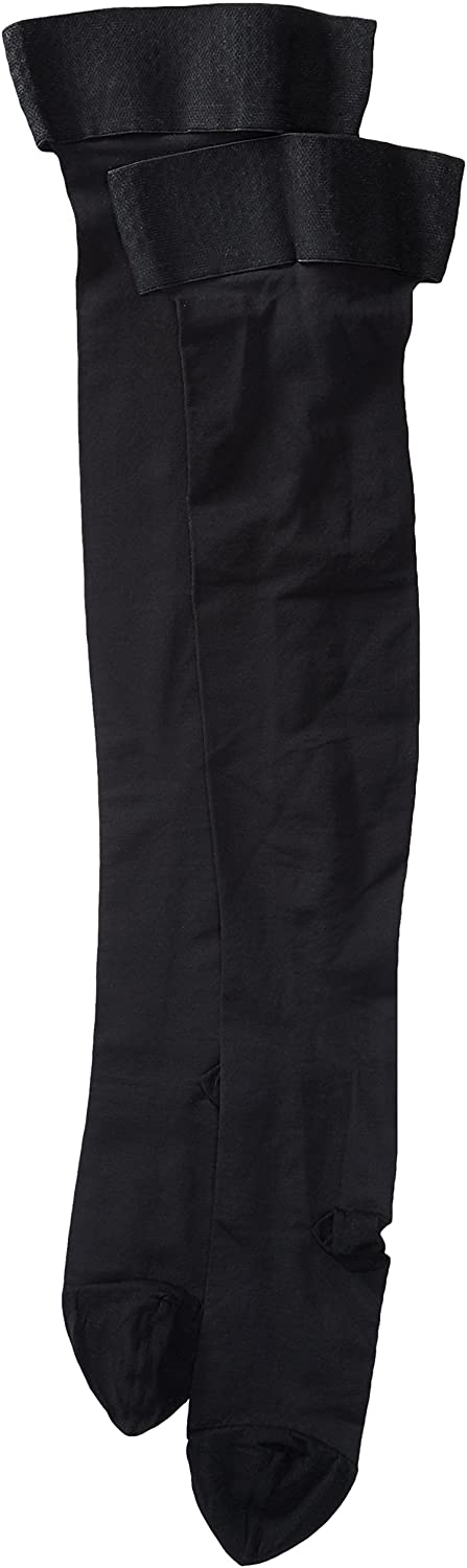 H3962 Activa Soft Fit 20-30 mmHg Thigh High with Uniband Top Stockings, Closed Toe, Black, Medium