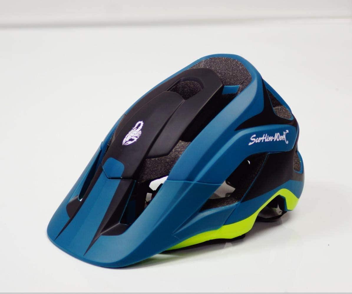 Bicycle Helmet, Mountain Bike Cross Country Helmet Motorcycle Adult Bicycle Scorpio, Dark Blue, M