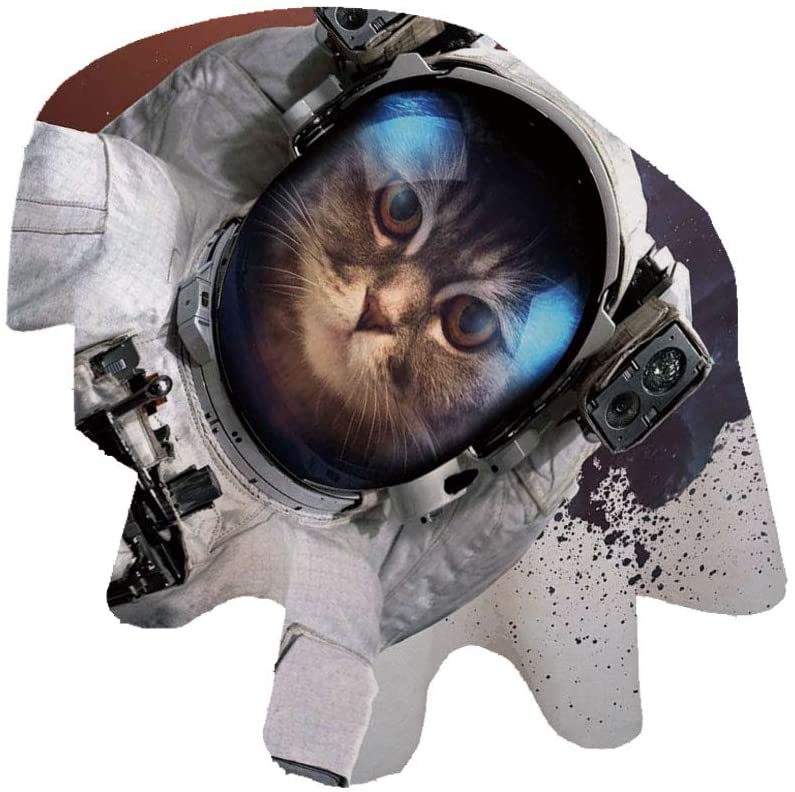 Angel Bags Space Cat Oval Tablecloth,Street Art Grunge Backdrop with Cosmonaut Cat in Space Suit Image Polyester Table Cover,60x120 Inch,for Spring/Summer/Party/Picnic White Purple and Orange