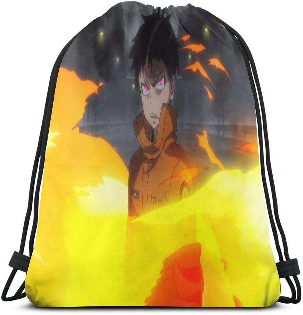 JIGFfkhal Anime Casual Beam Mouth Backpack Fire Force Travel and Leisure Backpack