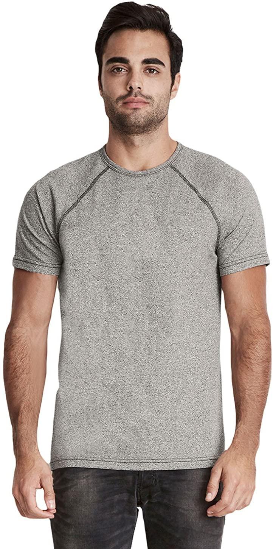 Next Level 2050 Mens Short-Sleeve Raglan T-Shirt Heather Gray XXX-Large