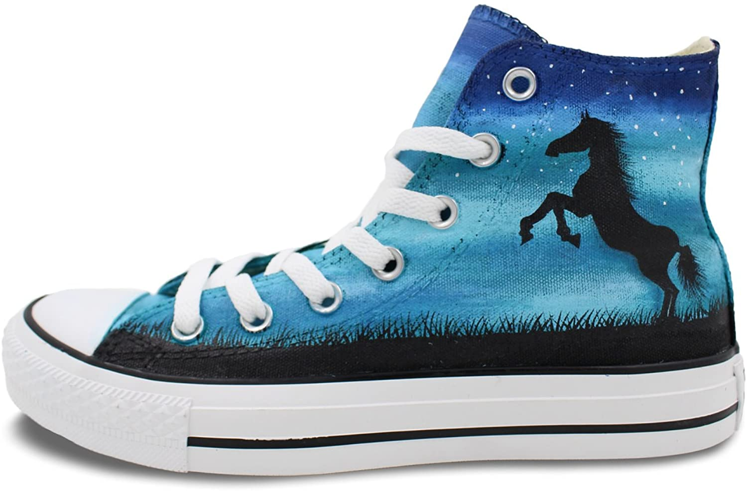 Wen Original Design Hand Painted Horse Casual Shoes Men Women's Canvas Sneakers