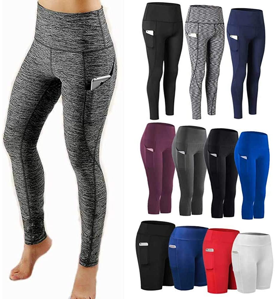 N A Pocket Solid Sport Yoga Pants High Waist Mesh Sport Leggings Fitness Women Yoga Leggings Training Running Pants Sportswear