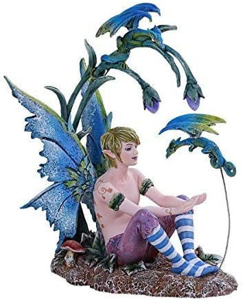 Pacific Giftware PT Amy Brown Art Original Collection Boy and His Dragon Male FAE Resin Collectible Figurine