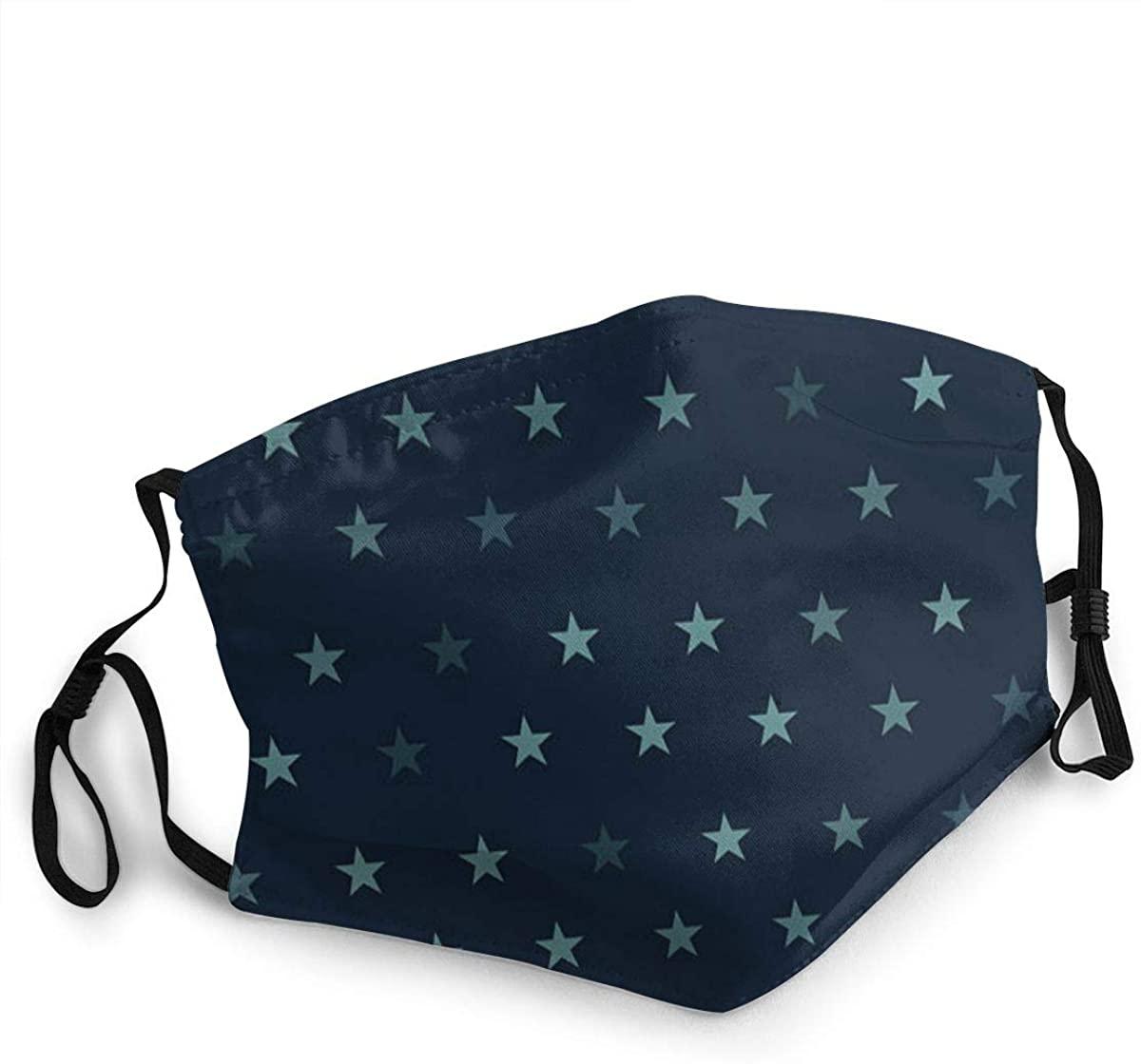 MARTHLORES Fashion Protective, Reusable Cotton Fabric Star Unisex Cotton, Washable,Adjustable, Reusable.