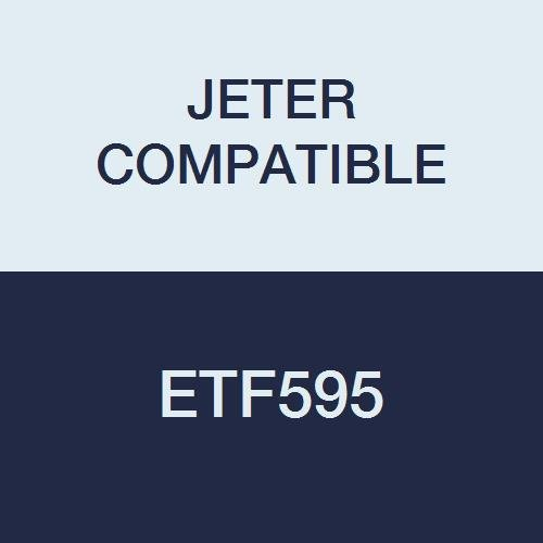 JETER COMPATIBLE ETF595 End Tab Folder, Fastener# 1 and 3, 14PT Manila, Flush Front, 12 1/4 x 9 1/2, 1-Ply (Pack of 50)