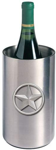 1pc, Pewter Lone Star Wine Chiller