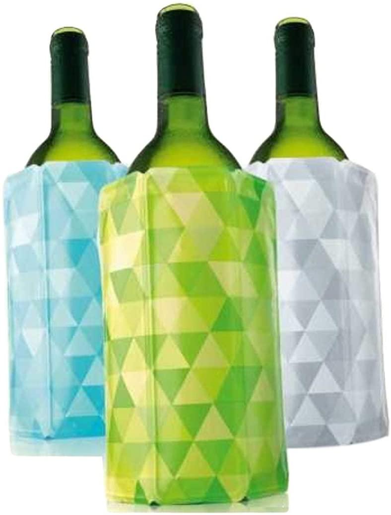 Vacu Vin Rapid Ice Wine Cooler - Set of 3 - Diamond Green, Blue, and Gray (Renewed)