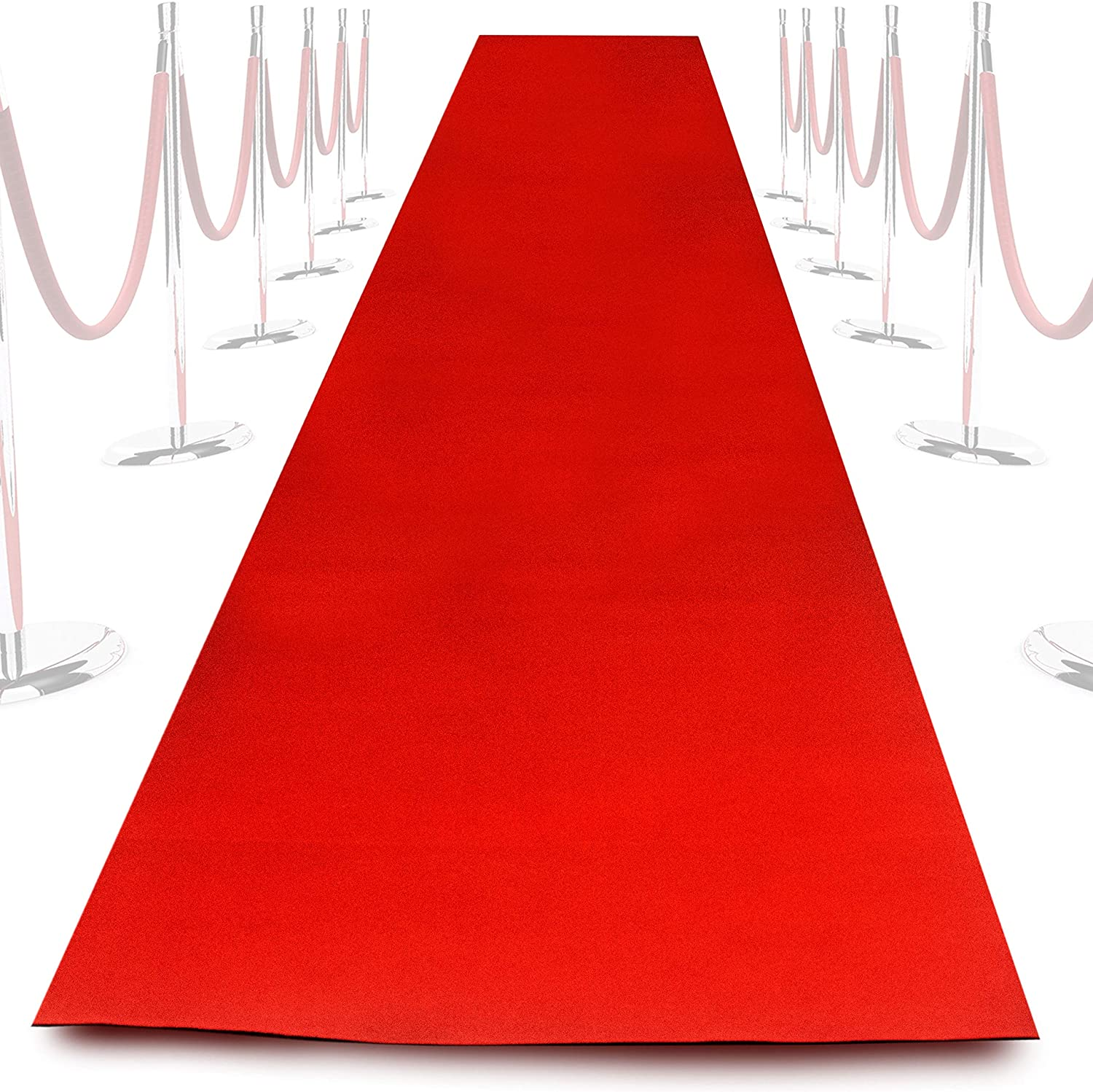 NextClimb Extra-Thick Red Carpet Aisle Runner Rug with Non-Slip Spray Treatment - 0.66m Wide x 5m Long Rug