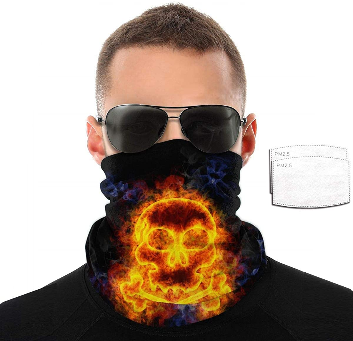 Seamless Face Cover Mouth Mask Scarf Bandanas Neck Gaiter - Dust & UV Sun-Protection for Festivals and Outdoors