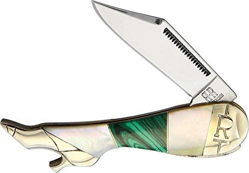 Rough Rider Malachite and Pearl Small Leg Knife RR2033
