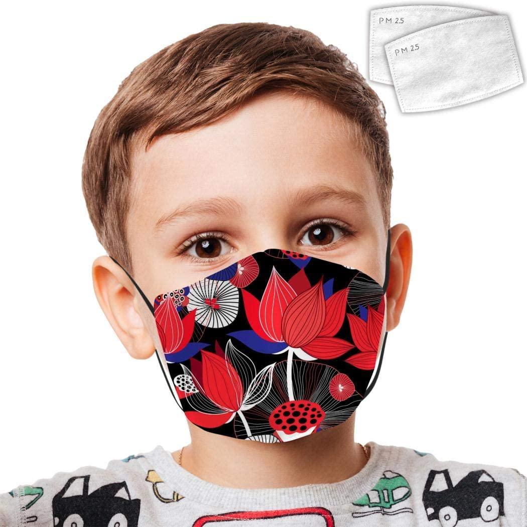 Protective Bandanas Varicoloured Marine Creatures Anti-Dust Mouth Washable Reusable Windproof Boys Girls Kids