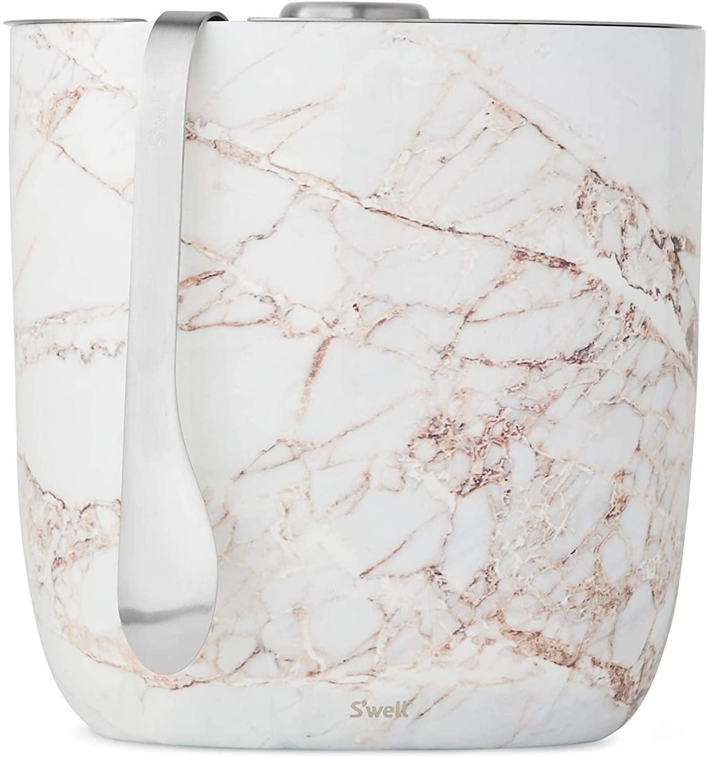 S'well Ice Bucket - 68 Fl Oz - Calacatta Gold, 2L/68oz (13068-B19-01010)