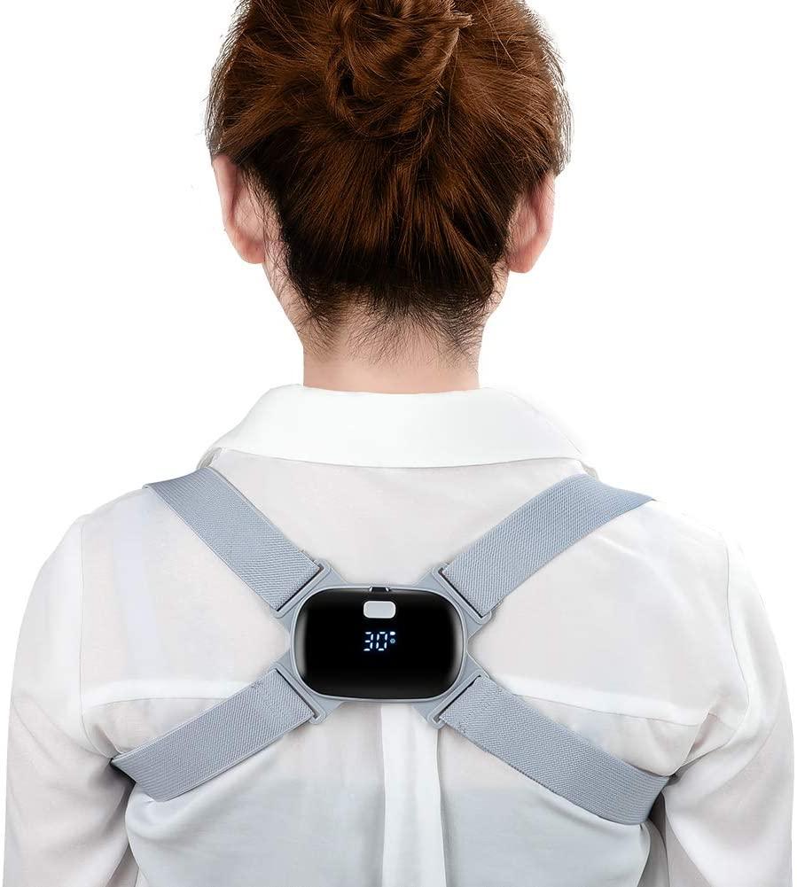 Electronic Posture Corrector, Smart Posture Trainer Reminder Adjustable Back Brace Straightener with Intelligent Sensor Vibration for Kids, Teenagers,Men, Women Improve Posture and Relax Spine