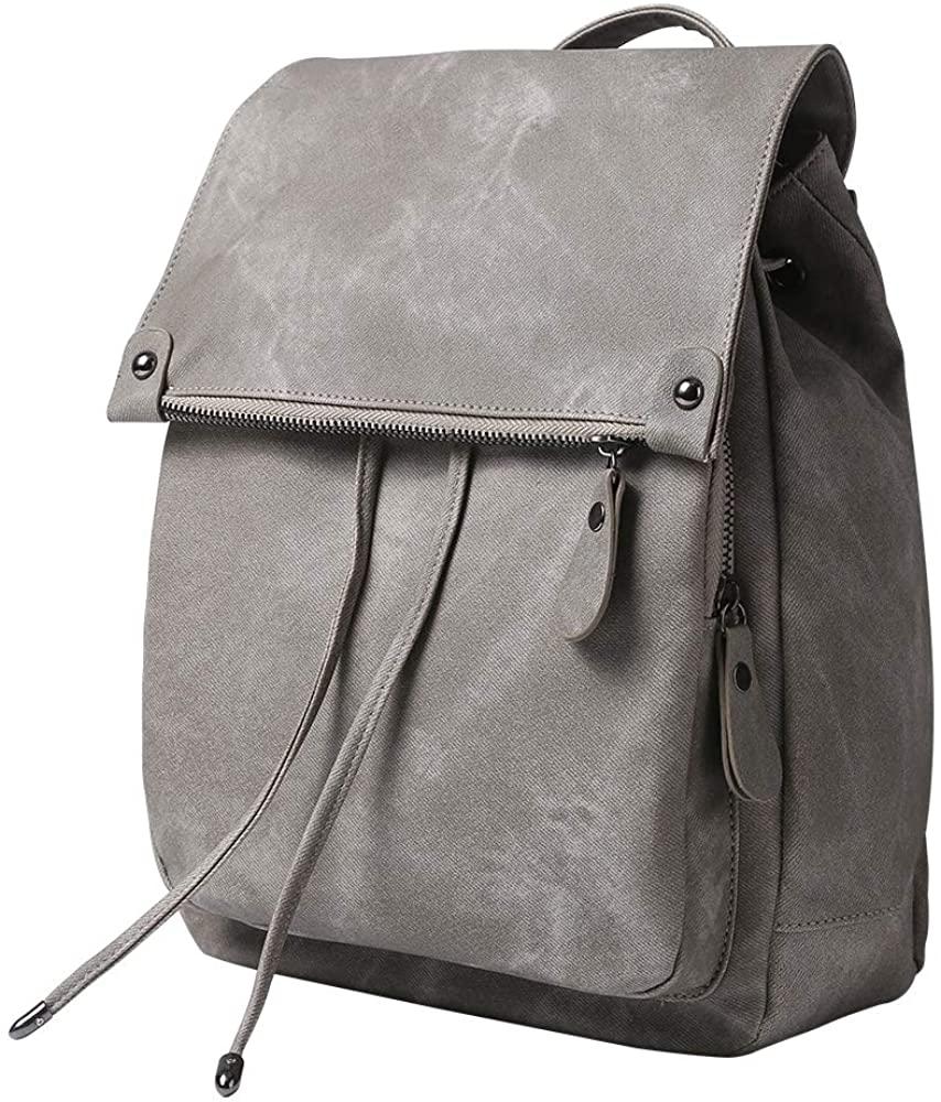 Women Backpack Waterproof Anti-theft Lightweight PU Leather Nylon Shoulder Bag Travel Backpack Ladies
