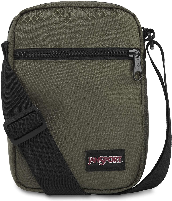 JanSport Weekender FX Crossbody Mini Bag - Lightweight Daypack, Green Machine