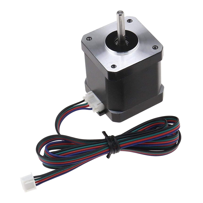 3D Pinter Stepper Motor, 4-Wire Bipolar Nema 17 40Ncm 1.5A 3.8V Step Angle 1.8 1M Cable