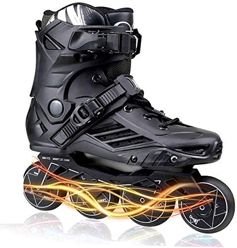 Inline skating Inline Skates for Women and Mens Adult Roller Skates with Featuring All Illuminating Wheels High Performance Outdoor Profession Beginner Childrens Inline Skates Black,Size:37 EU/5 US/4