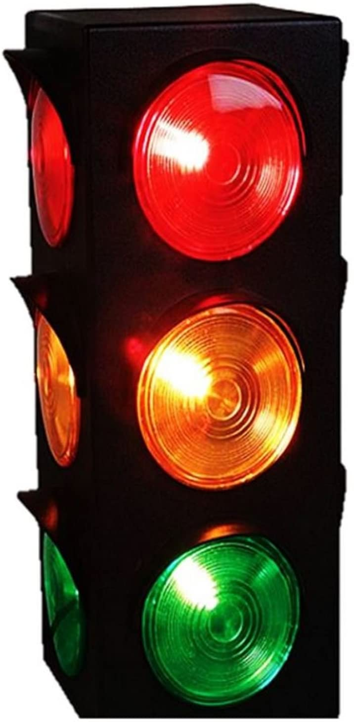 JEWELS FASHION Traffic Light Lamp - Plug-in, Blinking Triple Sided, 12.25 Inch-for Kids Bedrooms, Decorations, Parties, Celebrations, Prop, & Gift and More