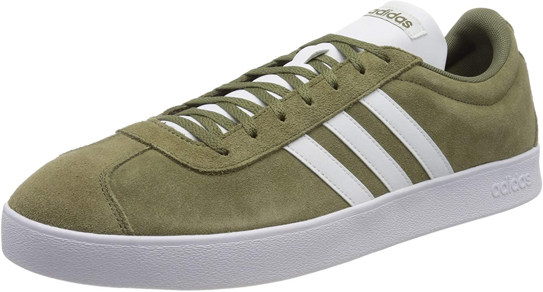 Adidas Vl Court 2.0, Men's Skateboarding Shoes, Green (Raw Khaki/Ftwr White), 6.5 UK (40 EU)