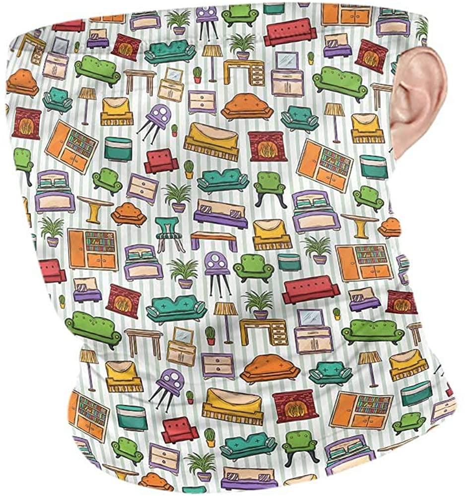 Headwrap Doodle,Home Interior Elements Headband Neck Gaiter