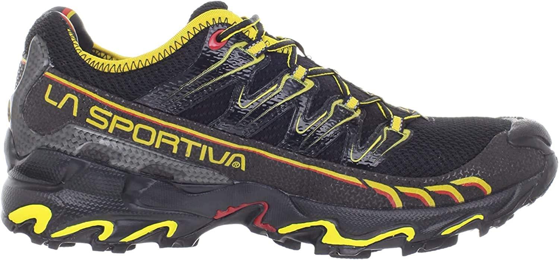 La Sportiva Men's Ultra Raptor Trail Running Shoe,Black/Yellow,41.5 EU/8.5 M US