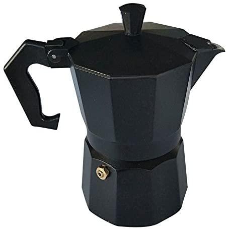 Stovetop Italian style Espresso Coffee Percolator Retro Black 3 cup