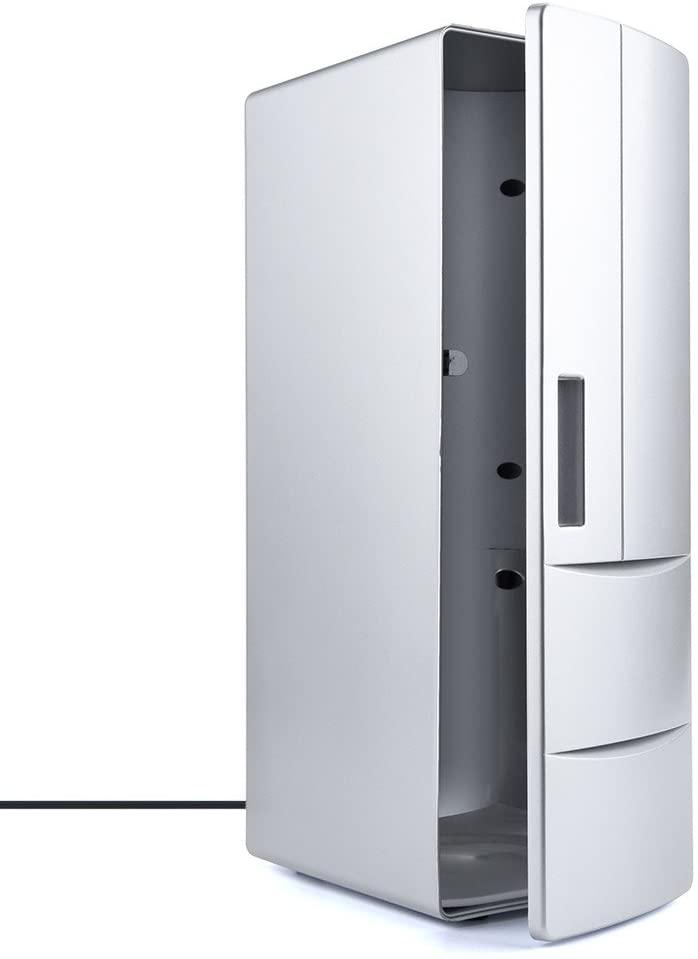 Simplylin Beverage Refrigerator & Cooler - 2 Can Mini Fridge Portable USB Desktop Freezer Fridge