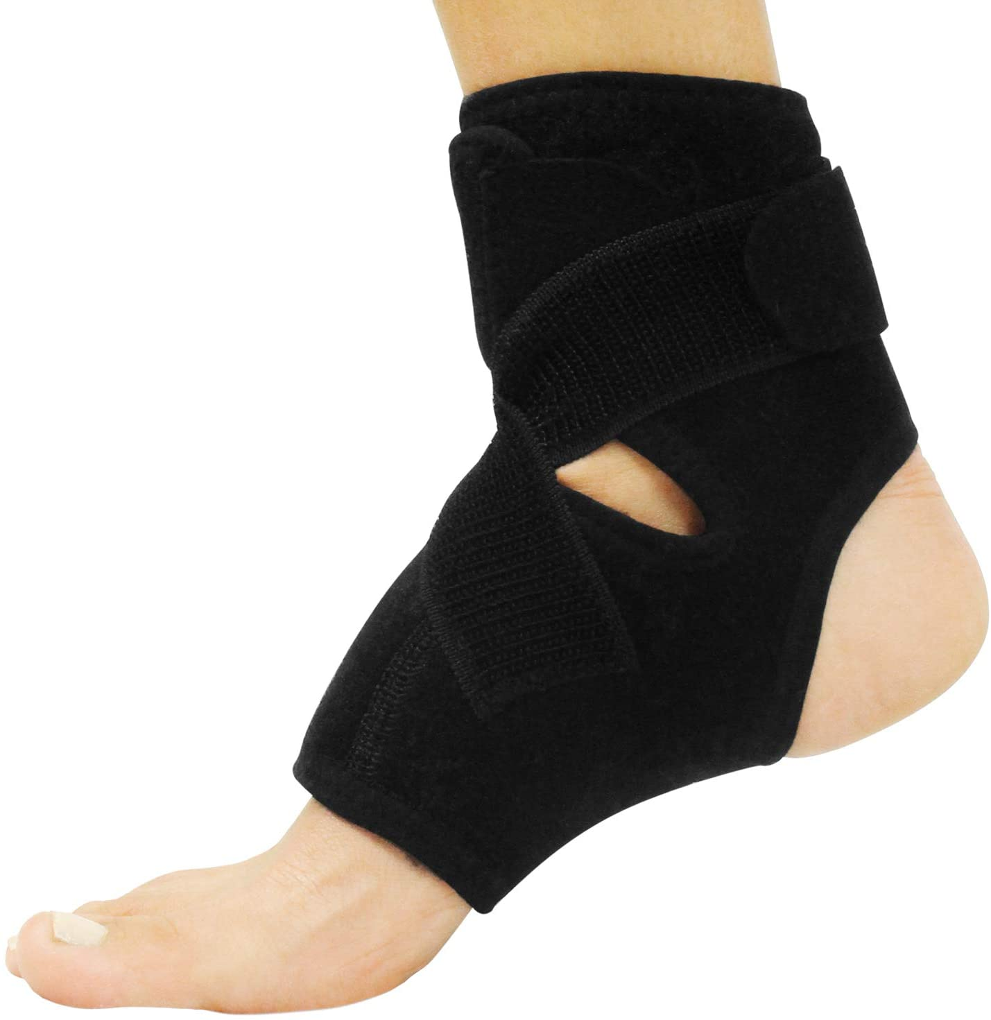 Vive Ankle Sleeve Brace - Right and Left Foot Support Wrap for Men and Women - Adjustable Sprained Feet- Lightweight, Breathable Guard - Stabilizer for Running, Rolled Sprains, Swollen Tendonitis