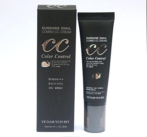 [YEDAM YUN BIT] Sunshine Snail Combo CC CREAM (SPF40 / PA+++)/Korea Cosmetics