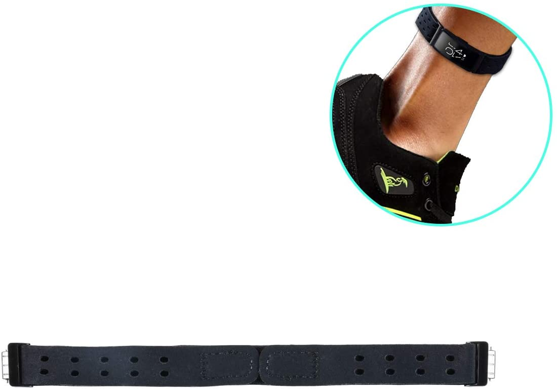 Seltureone Replacement Ankle Band Compatible for Fitbit Inspire HR/Fitbit Inspire Fitness Tracker for Women Man, Fitbit Inspire (HR) Sport Soft Band with Adjustable Double Hook&Loop Closure- Black