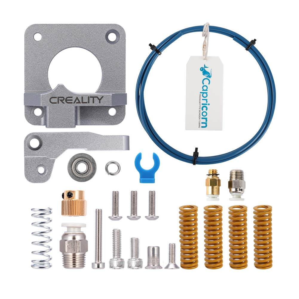 Creality Upgrade 3D Printer Kit with Capricorn Premium XS Bowden Tubing, Upgraded Metal Feeder Extruder Frame,Pneumatic Couplers and Bed-level Spring for for Ender 3/3 Pro/5 CR-10 Series/10S/20/20 Pro