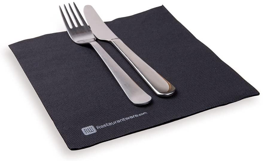 Paper Napkins, Dinner Napkins - Black - Soft & Durable - 16