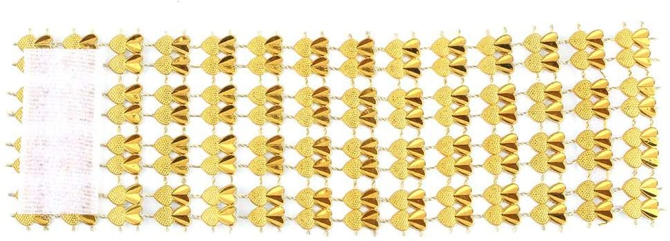 50Pcs Napkin Rings Rhinestone Mesh Napkin Rings Buckles Adornment For Wedding Dinner Party Table Decoration(Golden)