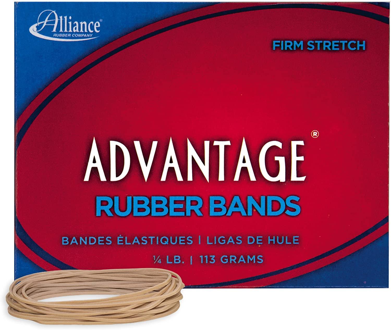 Alliance Rubber 26199 Advantage Rubber Bands Size #19, 1/4 lb Box Contains Approx. 312 Bands (3 1/2