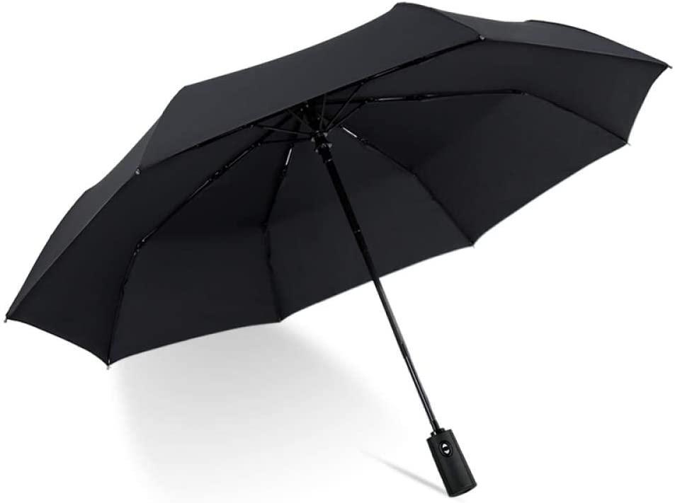 Outdoor sports kitchen Automatic Umbrella self-Opening and self-retracting Automatic Umbrella, Black Full Automatic Umbrella