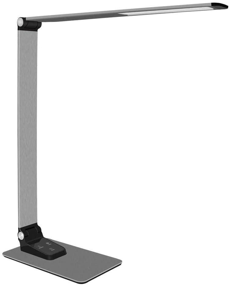Table Lamp, Desk lamp, Super Thin Aluminium Desk Lamp 9 Birghtness Touch Dimmer USB Charge LED Foldable Work Desktop Lamp for Reading