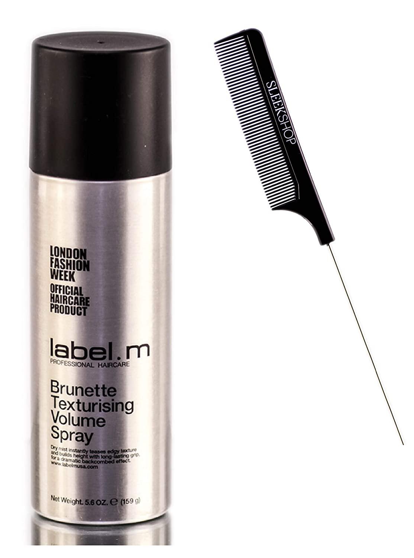 Label M Brunette Texturising Volume Spray (w/ Sleek Comb) Hair Texturizing Volumizing Hairspray, Dry Shampoo (5.6 OUNCE)