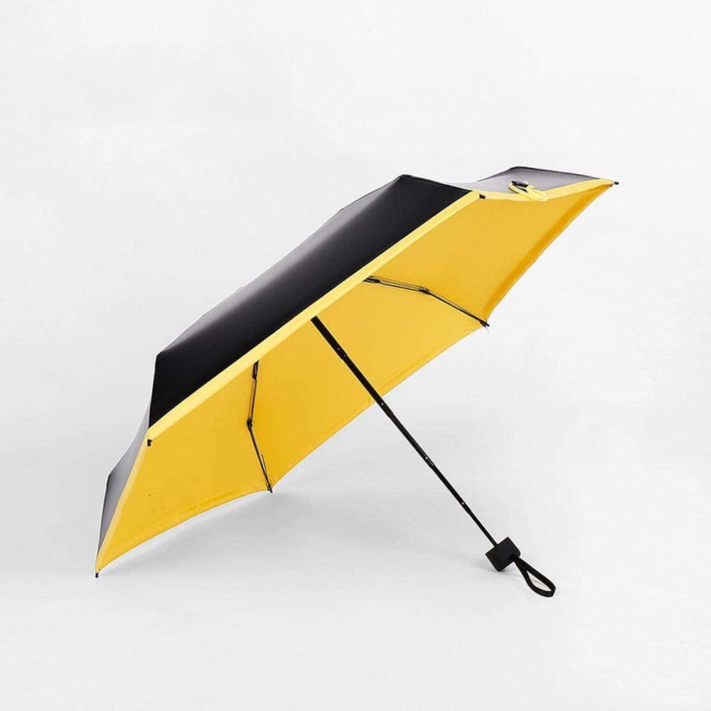 HONGGE Travel Umbrella Creative Mini Folding Umbrella Black Glue 50 Percent Sun Visor Umbrella Capsule Umbrella