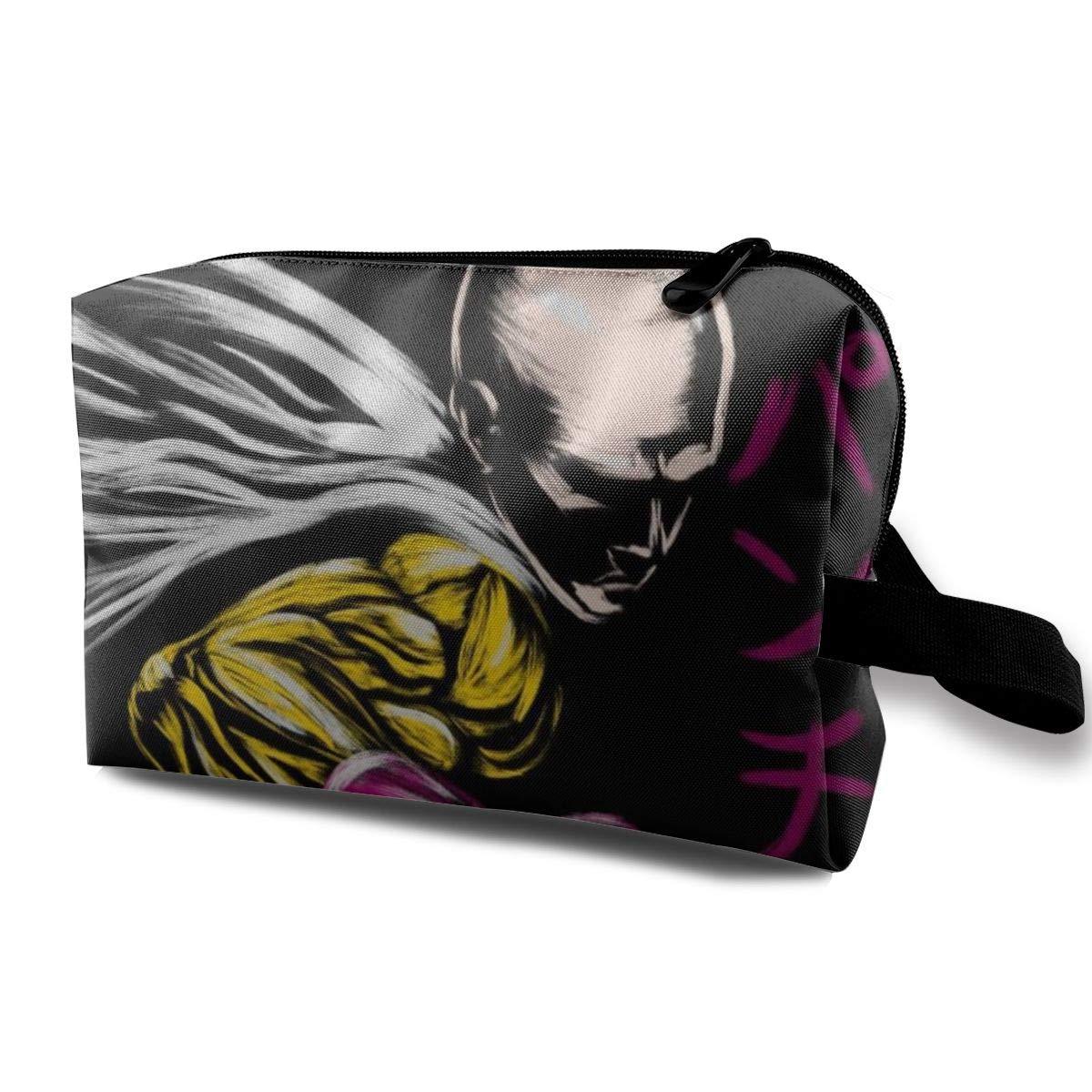 Makeup Bag Cosmetic Pouch One Punch Man Wanpanman Saitama Multi-Functional Bag Travel Kit